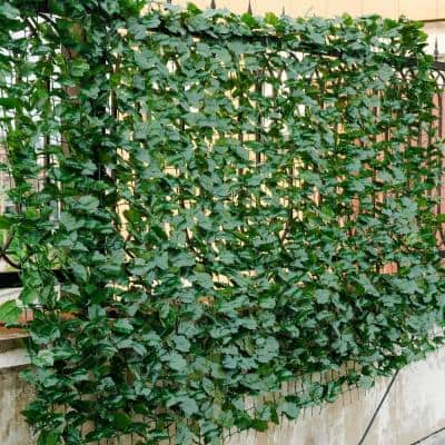 Indoor/Outdoor PE Artificial Privacy Fence Hedges in Green