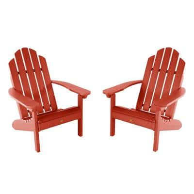 Classic Westport Rustic Red Plastic Adirondack Chair (2-Pack)