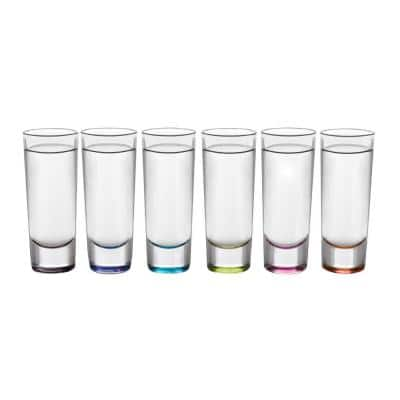 Troyano 2 oz. MultiColor Shooter Glass (6-Pack)