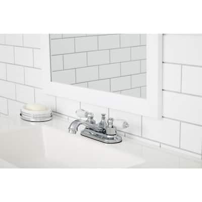 Teapot 4 in. Centerset 2-Handle Low-Arc Bathroom Faucet in Chrome