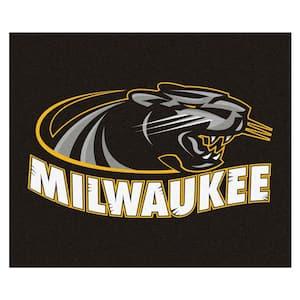 NCAA University of Wisconsin-Milwaukee Black 5 ft. x 6 ft. Area Rug