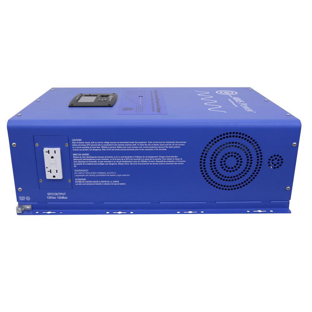 12,000-Watt Pure Sine Inverter Charger 48-Volt DC to 120-Volt/240-Volt AC Split Phase Output ETL Listed UL 1741
