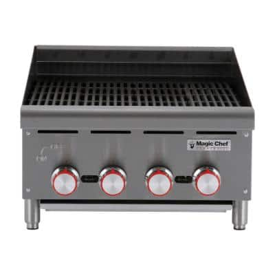 24 in. Commercial Countertop Radiant Char Broiler