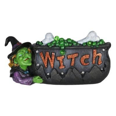 Witch Cauldron Marquee Garden Statue