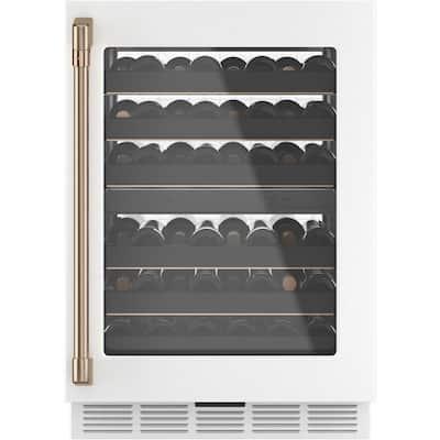 24 in. 46-Bottle Wine Beverage Cooler in Matte White