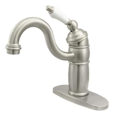 Victorian Single-Handle Bar Faucet in Brushed Nickel