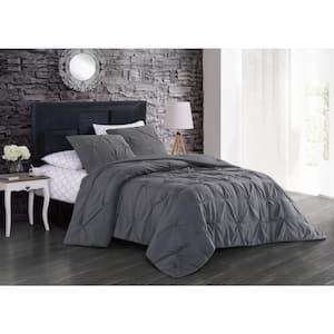 Flynn 7-Piece Gray Queen Comforter Set