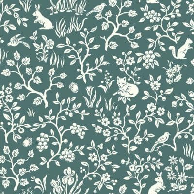 Fox & Hare Spray and Stick Wallpaper (Covers 56 sq. ft.)