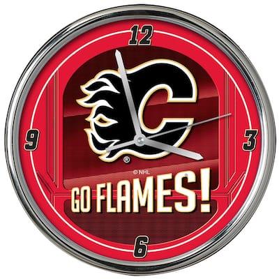 NHL -Go Team Chrome Flames Clock