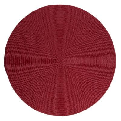 Trends Red 8 ft. x 8 ft. Round Braided Area Rug