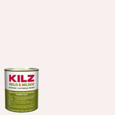 Mold and Mildew 1 qt. White Water Based Interior and Exterior Primer, Sealer and Stain-Blocker