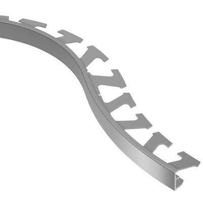 Schiene Aluminum 7/16 in. x 8 ft. 2-1/2 in. Metal Radius Tile Edging Trim