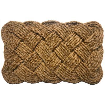 Rope Natural 18 in. x 30 in. Coir Door Mat