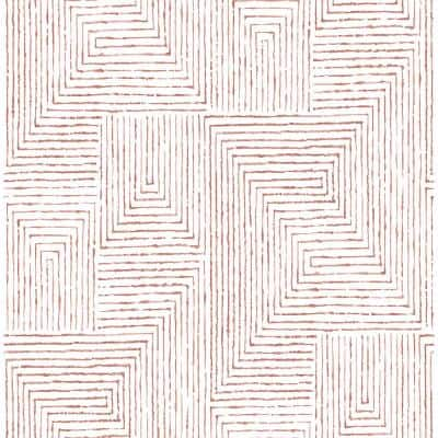 Merritt Red Geometric Red Paper Strippable Roll (Covers 56.4 sq. ft.)