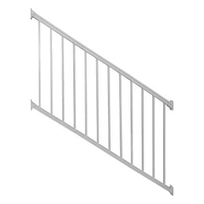 Stanford 42 in. H x 96 in. W Textured White Aluminum Stair Railing Kit
