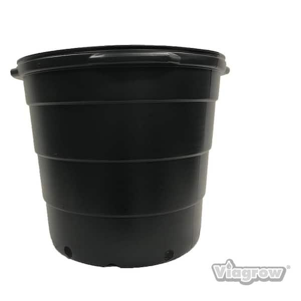 PK 15 15CM 1.5 LITRE TOP QUALITY RIGID AEROPLAS BLACK CONTAINER PLANT POTS