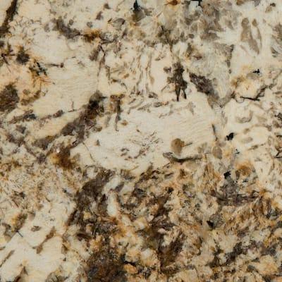 3 in. x 3 in. Granite Countertop Sample in Caravelas Gold