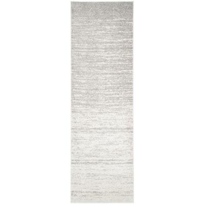 Adirondack Ivory/Silver 3 ft. x 14 ft. Runner Rug