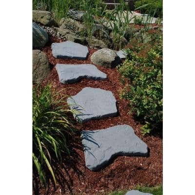 20 in. and 21 in. Irregular Blue Concrete Step Stone Kit (20-Piece)