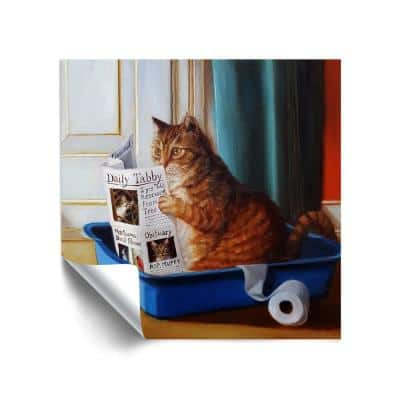 'Kitty throne' Removable Wall Mural