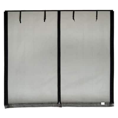 16 ft. x 8 ft. Roll-Up Garage Door Screen, 3 Zippers, with Mesh Rod Pocket