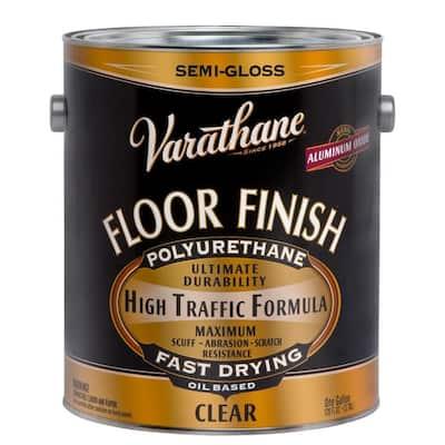 1 gal. Clear Semi-Gloss Oil-Based Floor Finish Polyurethane