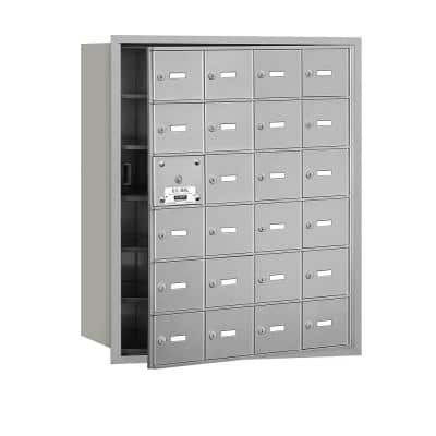 Aluminum USPS Access Front Loading 4B Plus Horizontal Mailbox with 24A Doors (23 Usable)