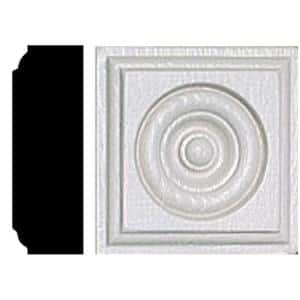 7/8 in. x 2-1/2 in. x 2-1/2 in. MDF Rosette Block Moulding