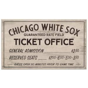 Chicago White Sox Vintage Ticket Office Wood Wall Decor