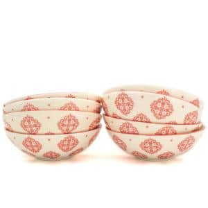Alfama 8-Piece Red Dining Bowl Set