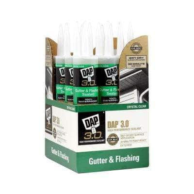 3.0 9 oz. Crystal Clear Premium Gutter and Flashing Sealant (12-Pack)