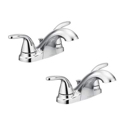 Adler 4 in. Centerset 2-Handle Bathroom Faucet in Chrome (2-Pack)