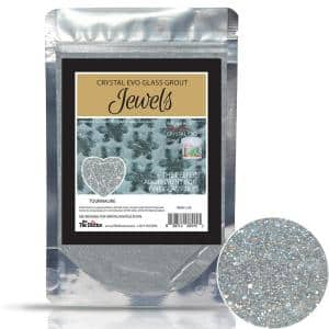 Crystal Glass Grout Jewels Tourmaline 75 grams (1-Pack)