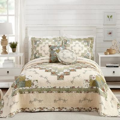 Olivia Green King Cotton Bedspread