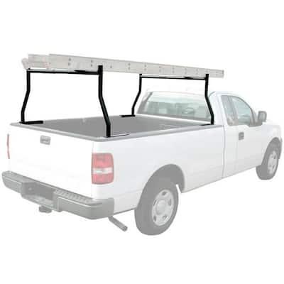 650 lbs. Load Capacity Universal Dual Bar Heavy-Duty Adjustable Cargo Truck Ladder Pick Up Rack in Black