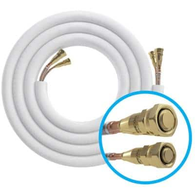 15 ft. Pre-Charged 3/8 in. x 3/4 in. No-Vac Quick Connect Line Set