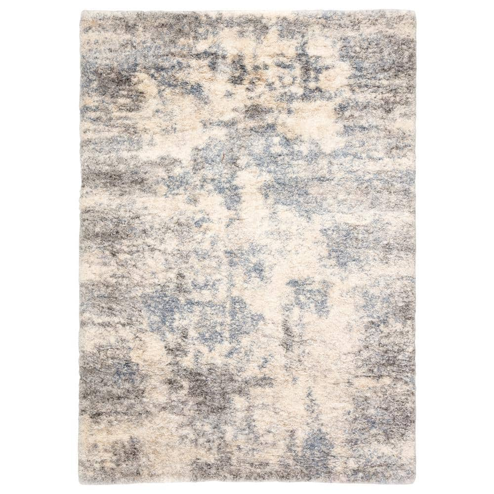 Jaipur Living Lyra Abstract 7 Ft 6 In X 9 Ft 6 In Light Gray Area Rug Rug143211 The Home Depot