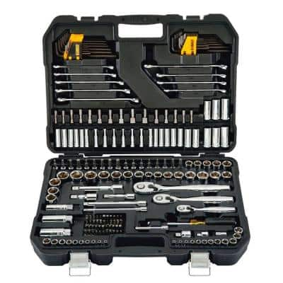 1/4 in., 3/8 in., and 1/2 in. Drive Polished Chrome Mechanics Tool Set (200-Piece)