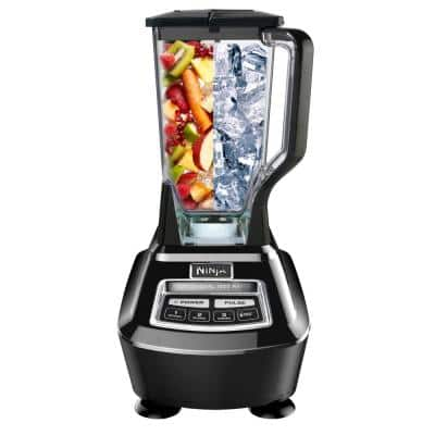 Mega Kitchen System 72 oz. 5-Speed Black Blender and Food Processor with Travel Cups