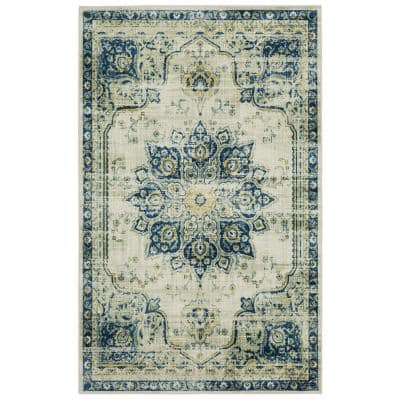 Empearal Navy 9 ft. x 12 ft. Oriental Area Rug