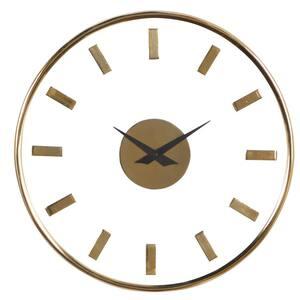 Gold Aluminum Modern Wall Clock