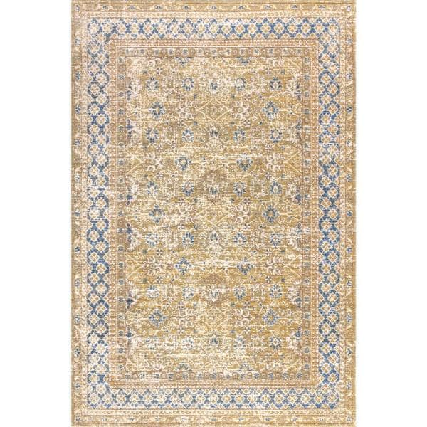 Jonathan Y Stirling English Country Argyle Blue Gold 7 Ft 9 In X 10 Ft Area Rug Sbc301a 8 The Home Depot