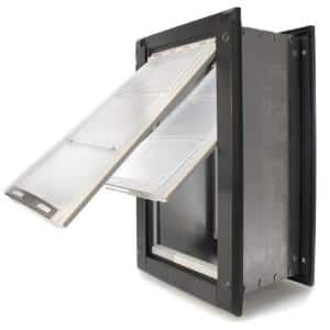 6 in. x 10 in. Small Double Flap for Walls with Black Aluminum Frame
