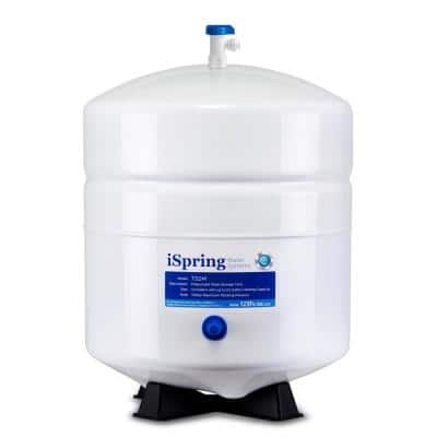 3.2 Gal. Metal Pressurized Reverse Osmosis Water Storage Tank with Ball Valve