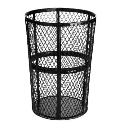 48 Gal. Steel Mesh Steel Open-Top All Weather Outdoor Commercial Trash Can