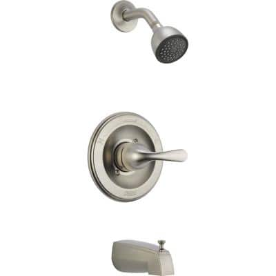 Classic 1-Handle Tub and Shower Faucet Trim Kit in Stainless (Valve Not Included)