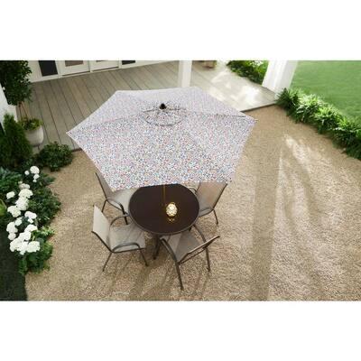 7.5 ft. Steel Market Outdoor Patio Umbrella in Coastal Geo