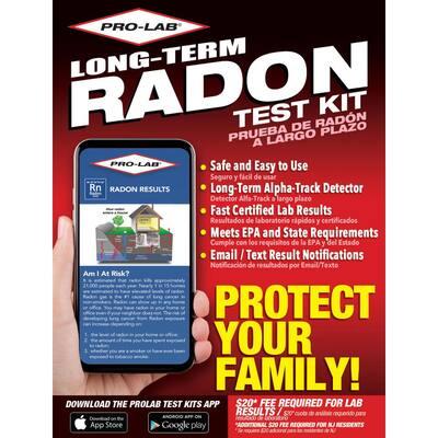 Long Term Radon Gas Test Kit