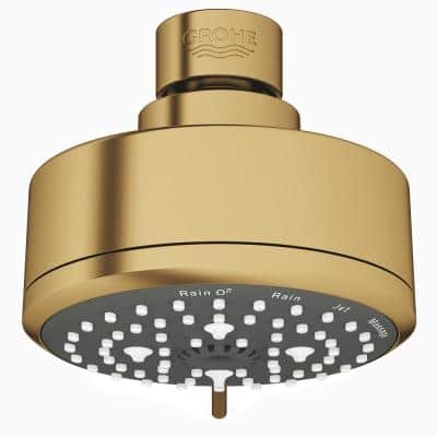 Tempesta 4-Spray 3.9 in. Single Wall Mount  Fixed Rain Shower Head in Brushed Cool Sunrise