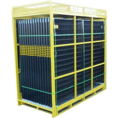 6 ft. x 210 ft. 28-Panel Black Powder-Coated Welded Wire Temporary Fencing
